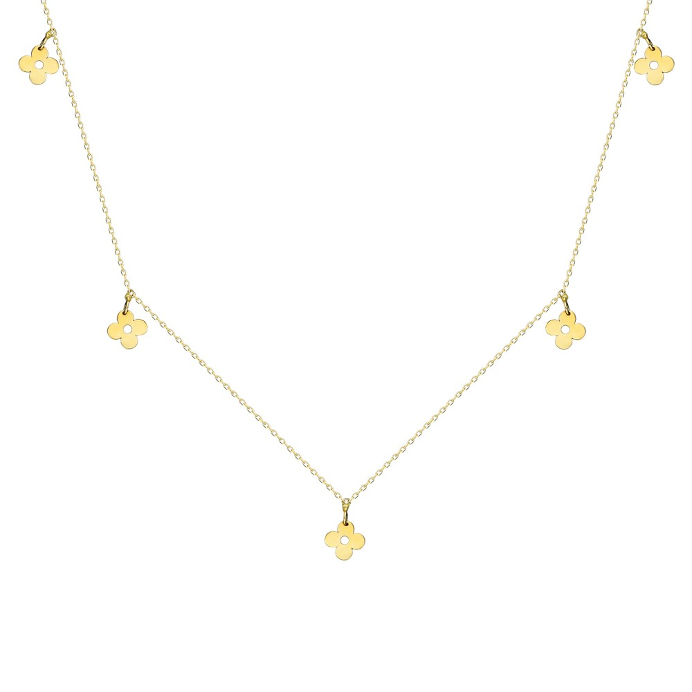 Glorria Gold Flower Necklace