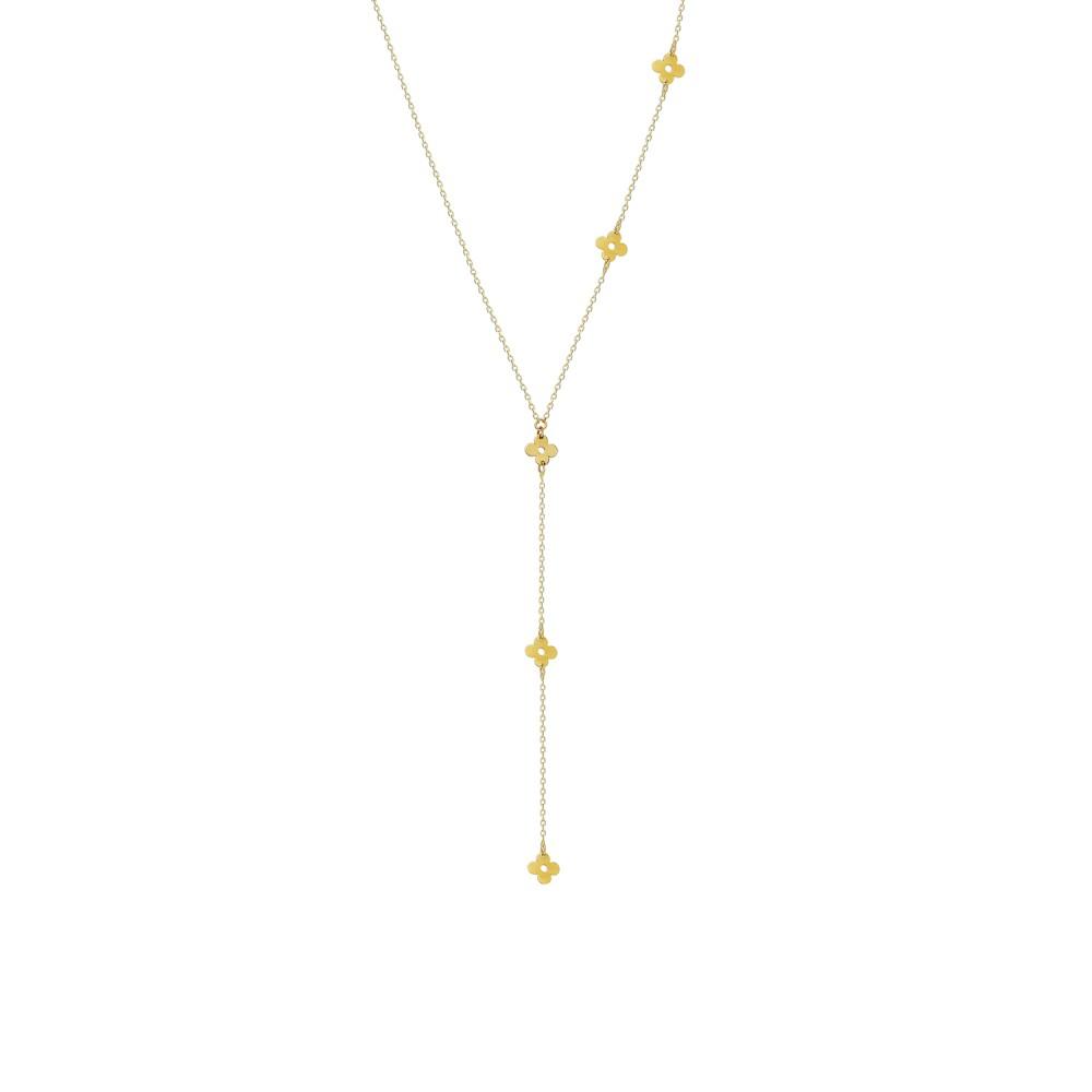 Glorria Gold Flower Necklace