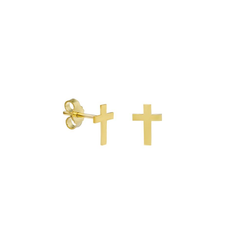Glorria Gold Cross Earring