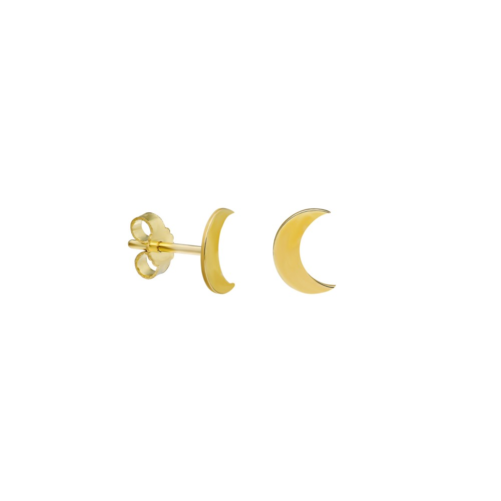 Glorria Gold Crescent Earring