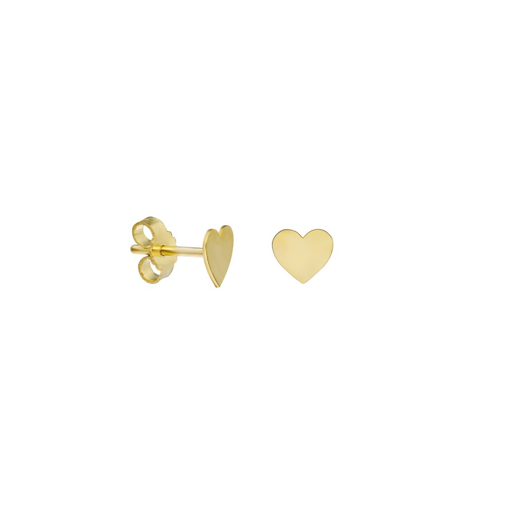 Glorria Gold Heart Earring