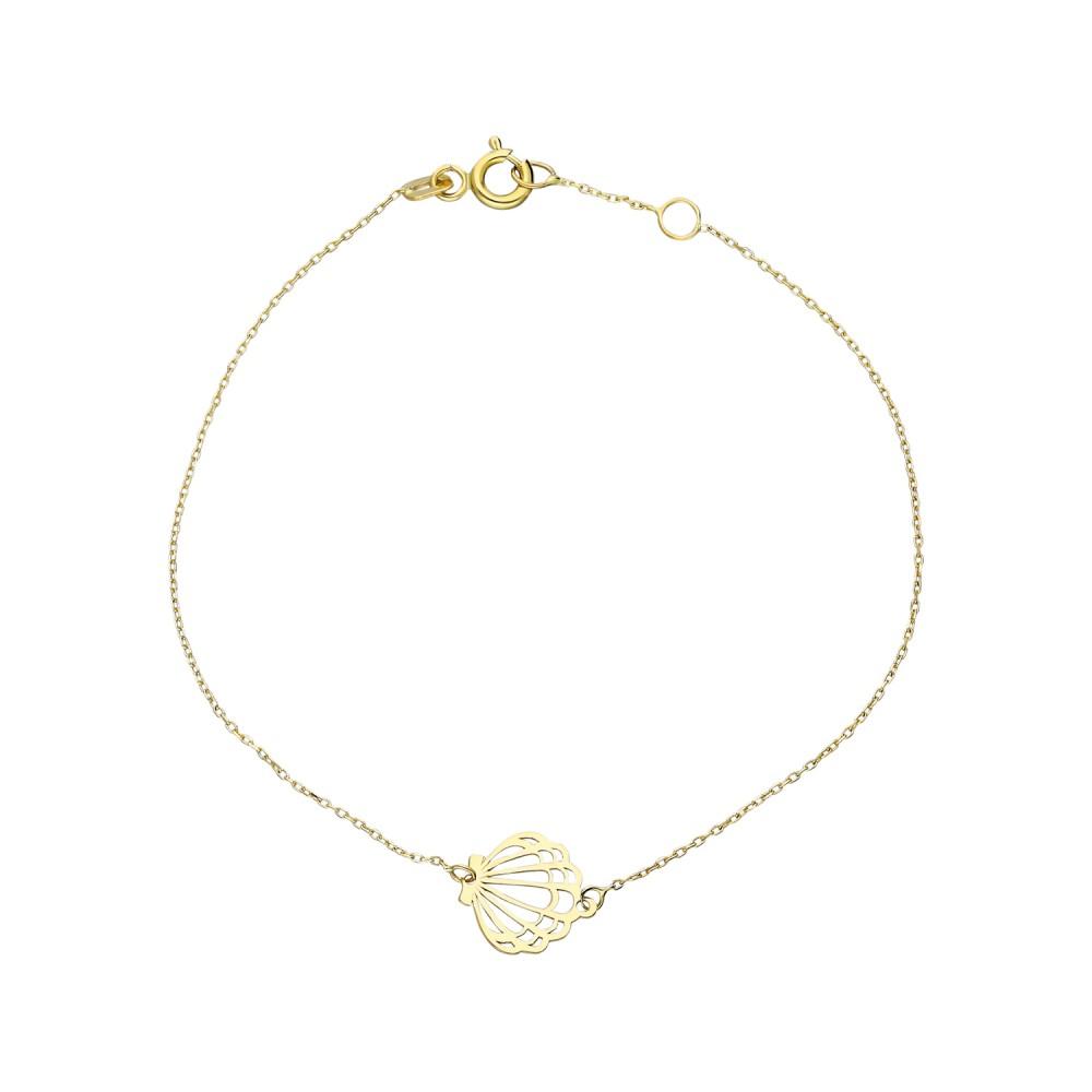 Glorria Gold Oyster Bracelet