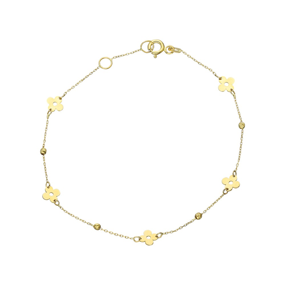 Glorria Gold Dorika Flower Bracelet