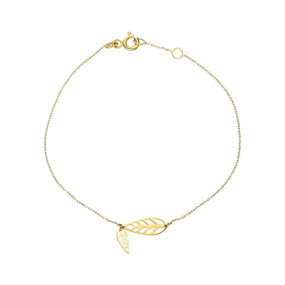 Glorria Gold Leaf Bracelet