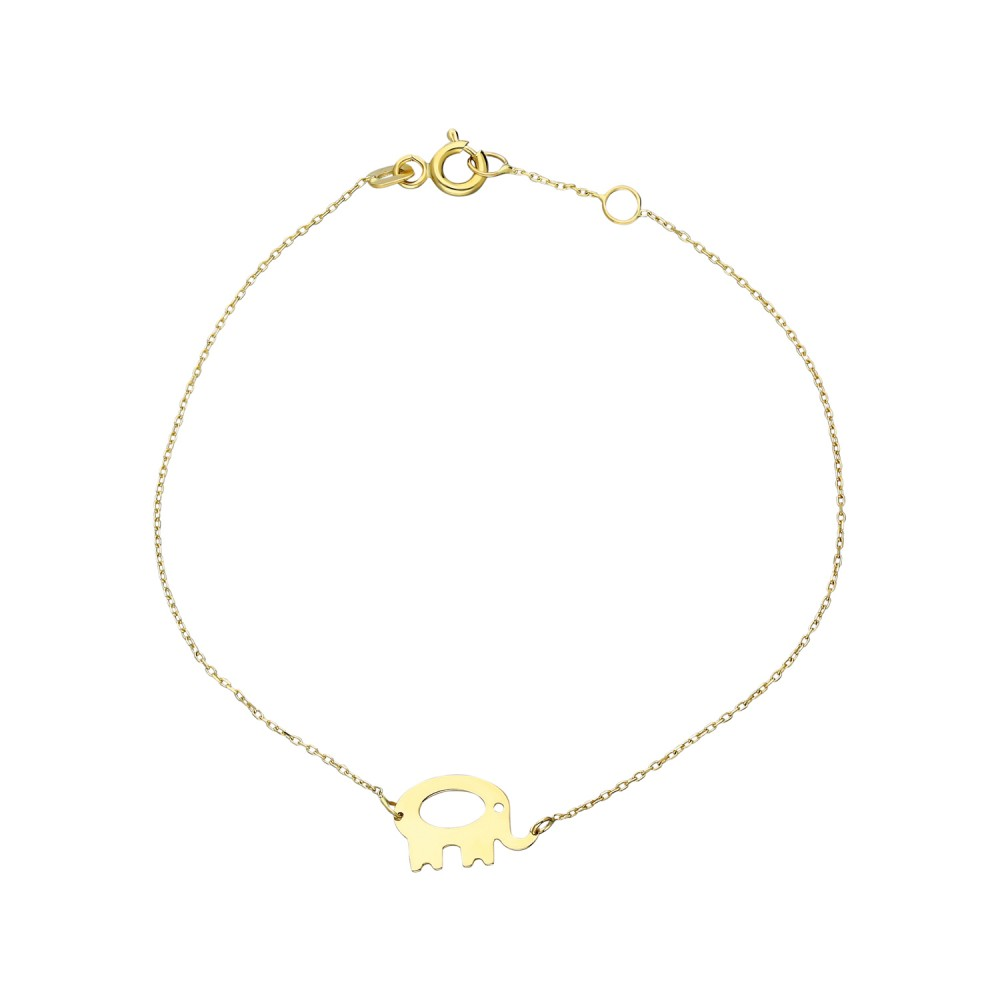 Glorria Gold Elephant Bracelet