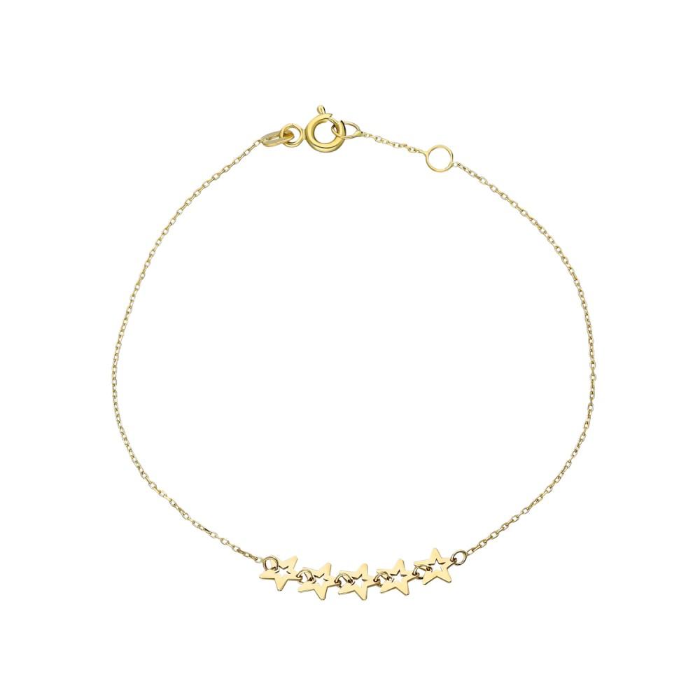 Glorria Gold Star Bracelet