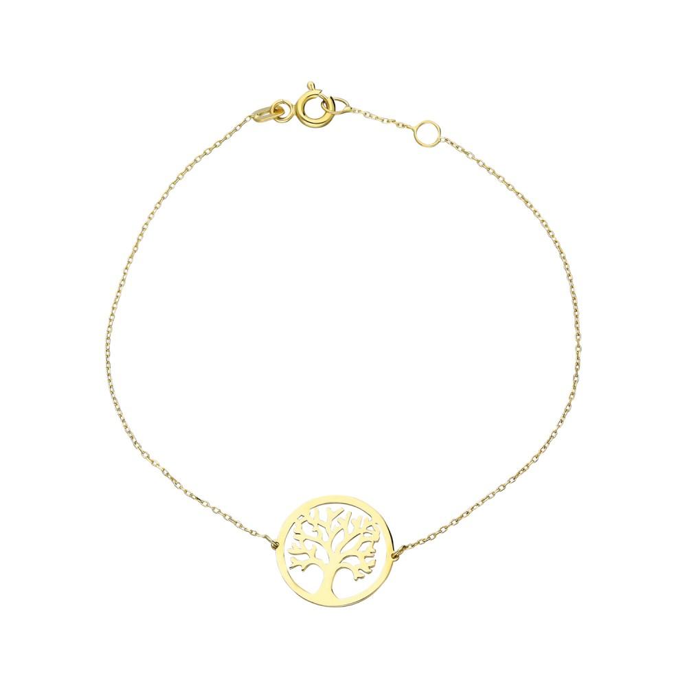 Glorria Gold Tree Of Life Bracelet