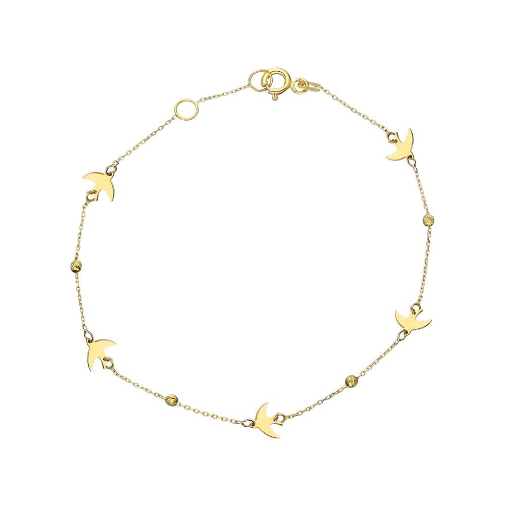 Glorria Gold Phoenix Bird Bracelet