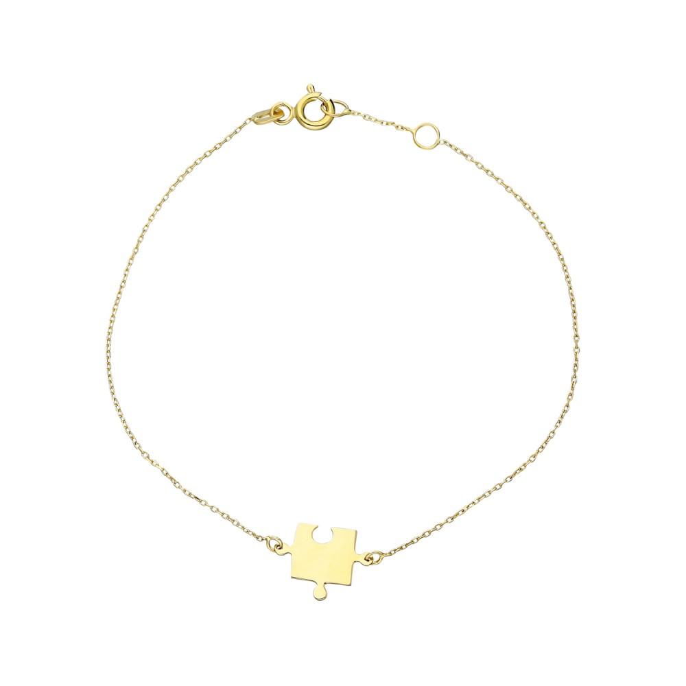 Glorria Gold Puzzle Bracelet