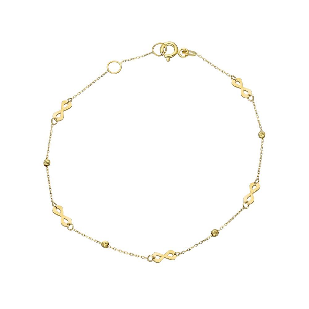 Glorria Gold Dorika İnfinity Bracelet