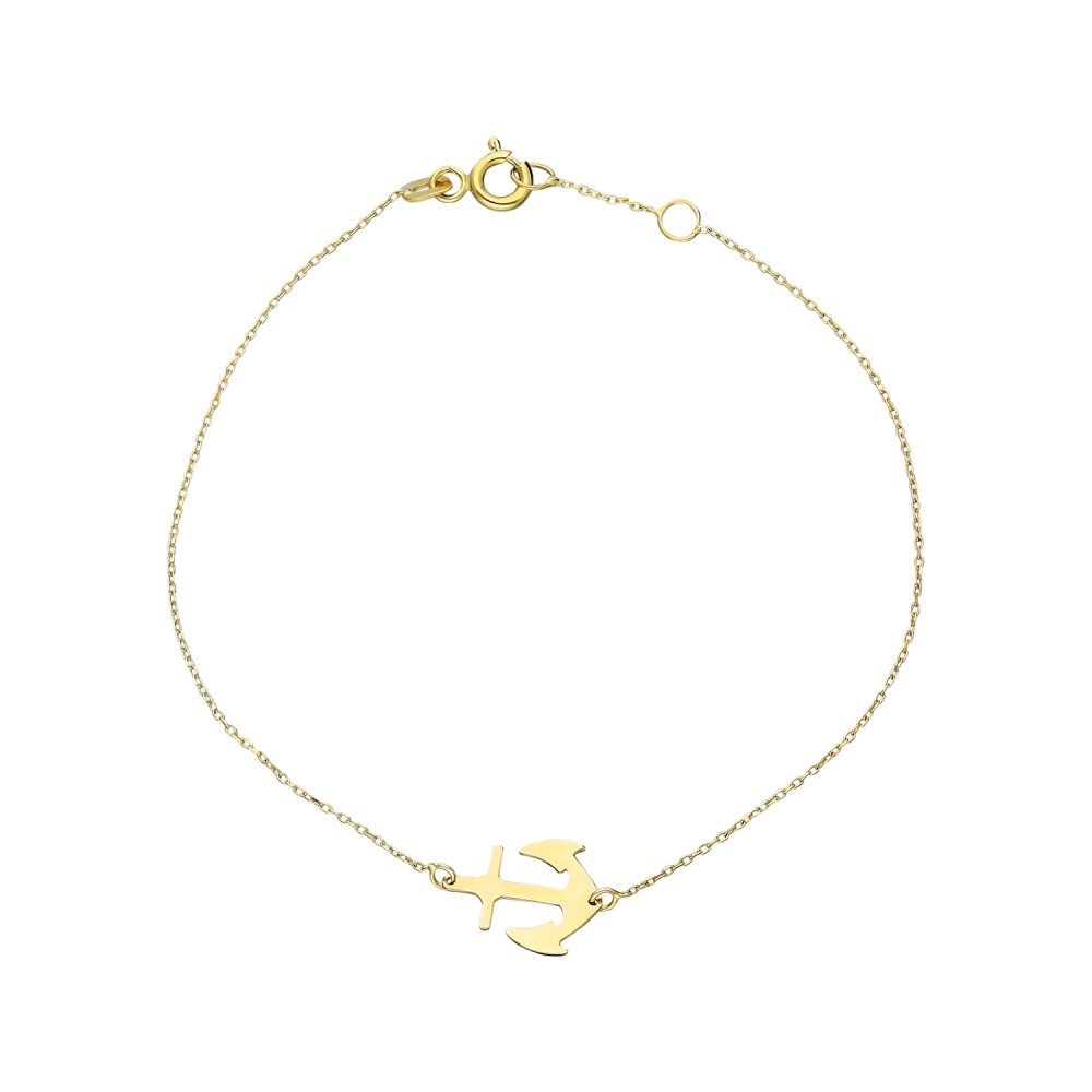 Glorria Gold Anchor Bracelet
