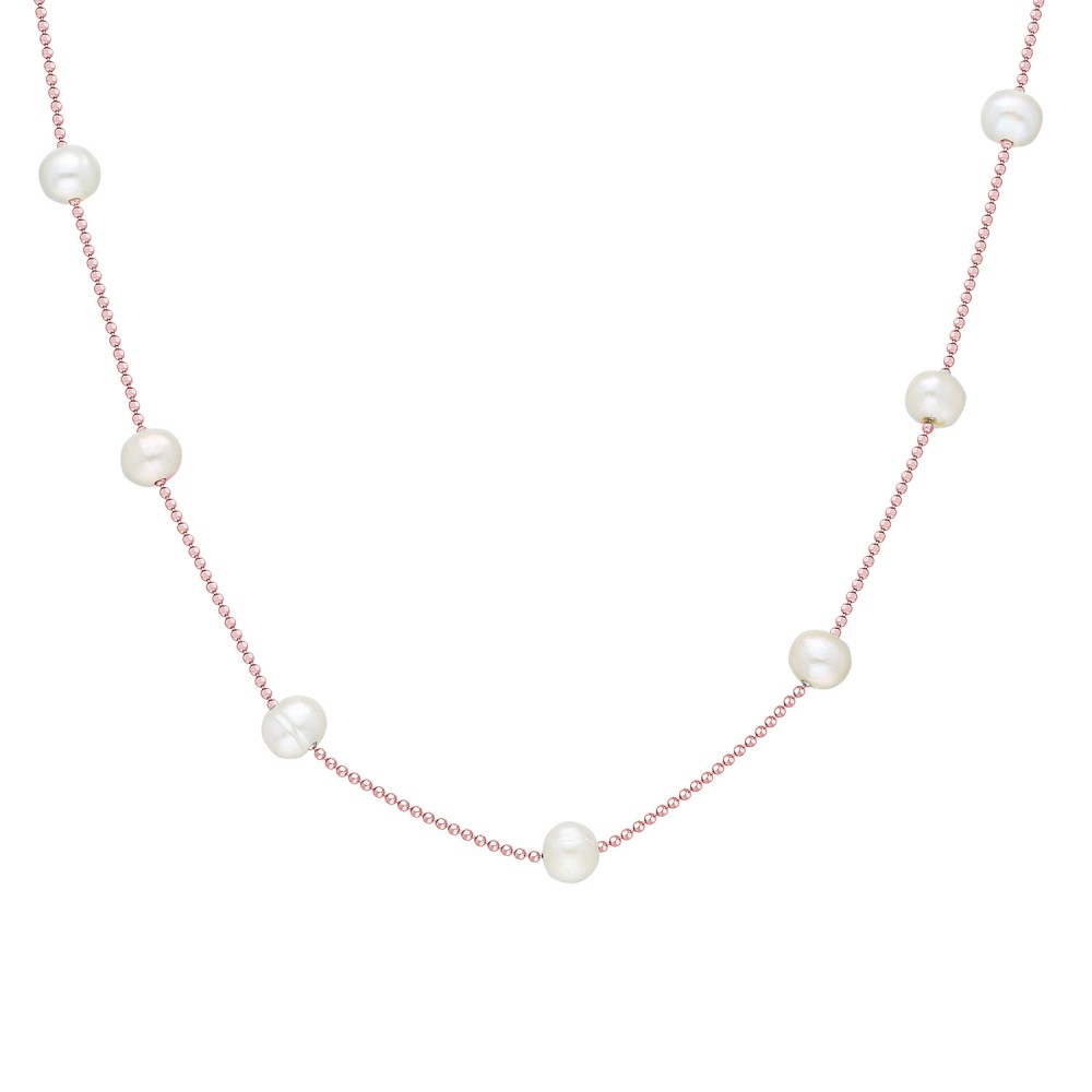 Glorria Silver Pearl Necklace