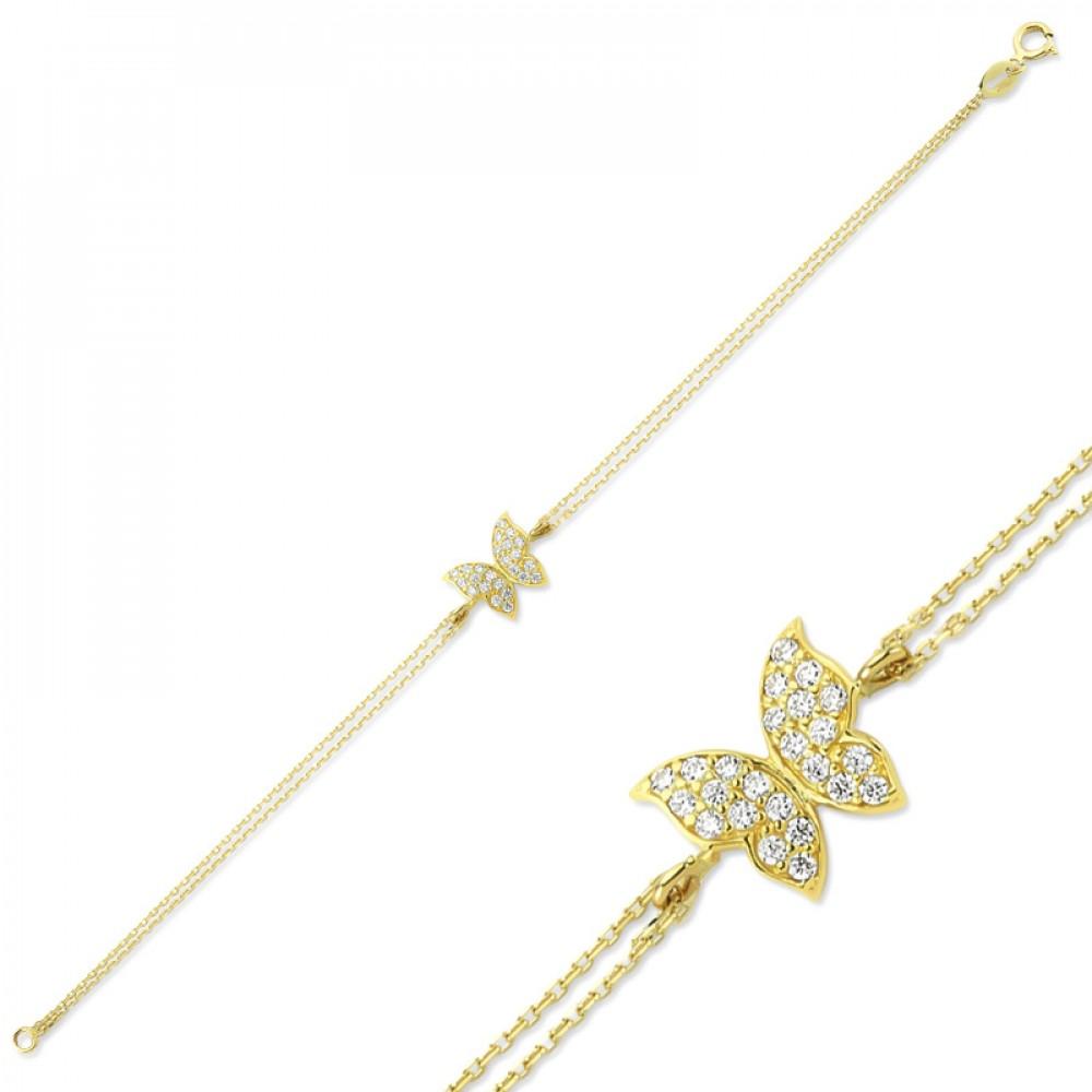 Glorria Gold Butterfly Bracelet