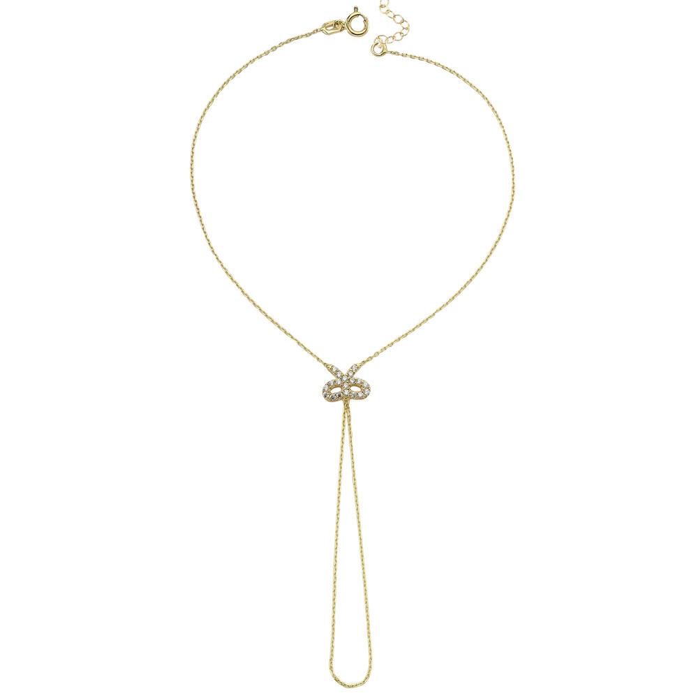 Glorria Gold Bow Shahmaran Bracelet